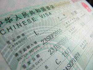 visa de negocios a China